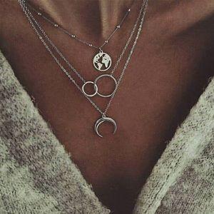 NEW!! 🤍 Multi Layered Pendant Necklace